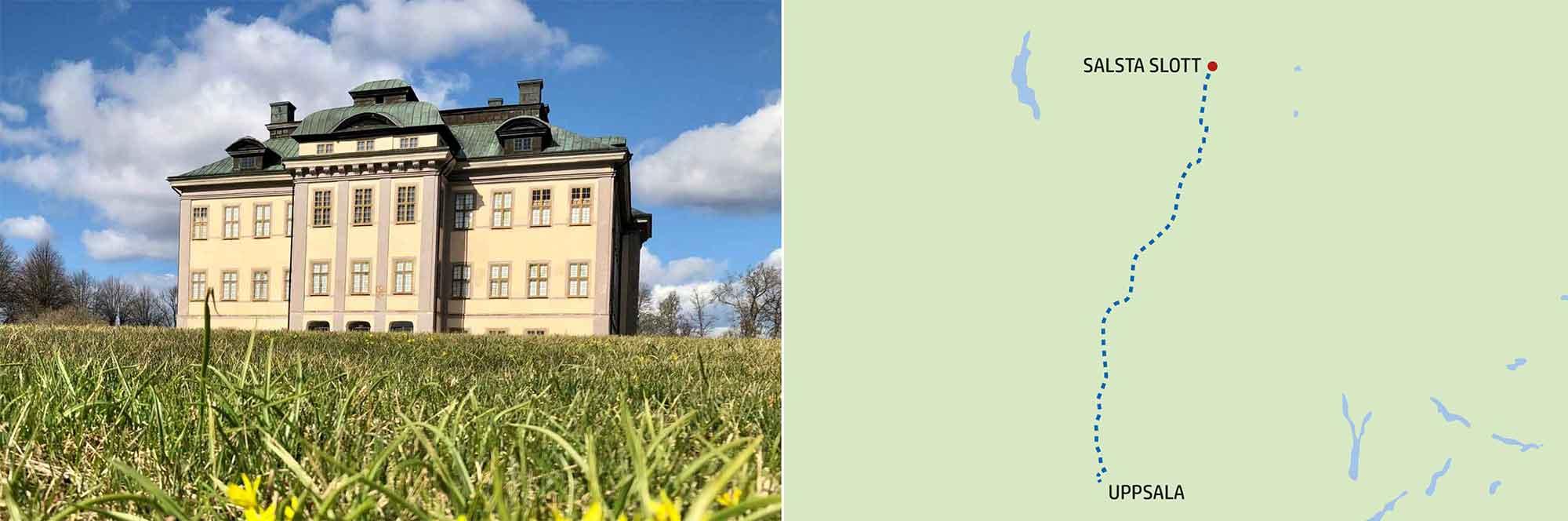 Salsta Slott, färdväg