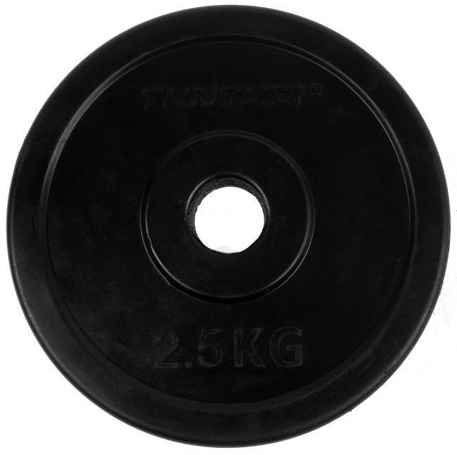 30 mm gummibelagd viktskiva 2,5 kg (par), Tunturi