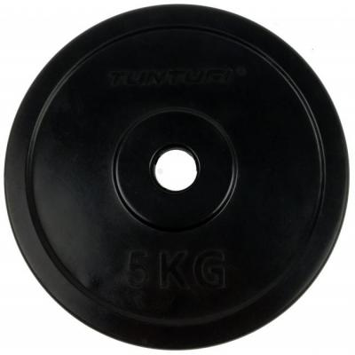 30 mm kumitettu levypaino 5 kg, Tunturi