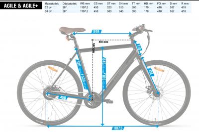 FitNord Agile Single Speed Elcykel (280 Wh batteri)