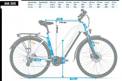 FitNord Ava 300 Elcykel (690 Wh högkapacitetsbatteri)