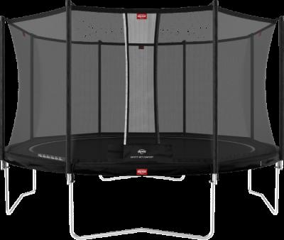 TESTVINNARE - BERG Favorit Studsmatta 380 cm med skyddsnät, svart