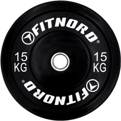 Viktskiva 15 kg, Bumper Plate, FitNord