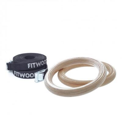 FitWood GYM RINGS KIDS, Lasten puiset voimistelurenkaat (pari)