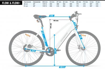 FitNord Flow+ Single Speed Elcykel (380 Wh batteri)