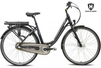 Sähköpyörä / Kaupunkipyörä Helkama CE3 (374Wh akku), harmaa