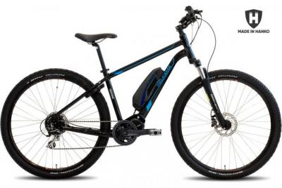 Sähköpyörä Helkama XE8 (418Wh akku), musta/sininen
