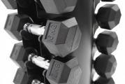 Hex hantelpaket 1-10 kg + hantelställ, FitNord