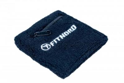 Handledssvettband med ficka med dragkedja, FitNord