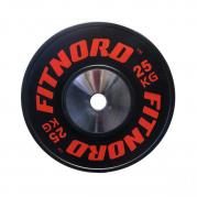 Kilpailulevypaino Bumper Plate 25 kg, FitNord