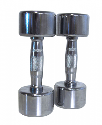 Kromade hantlar 10 kg (par), FitNord
