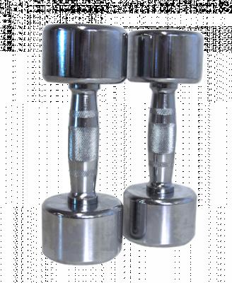 Kromade hantlar 6 kg (par), FitNord