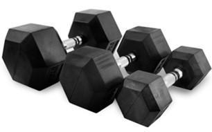 Käsipainot Hex 25 kg (pari), FitNord