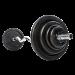 Kulmatanko kierrelukoilla 30 mm levypainoille, FitNord, 120 cm (EZ-tanko)
