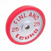 Viktskiva 25 kg, LEOKO tävlingsviktskiva med gummikant