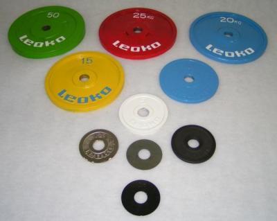 LEOKO metallviktskiva 25 kg, IPF-certifierad för styrkelyft