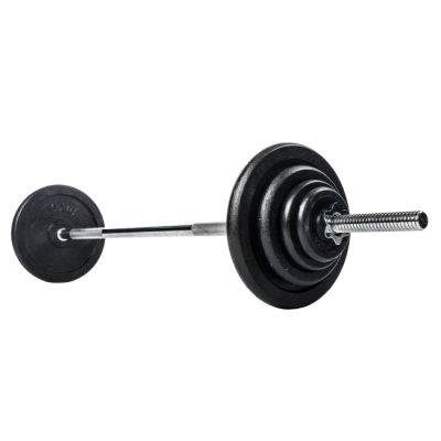 Skivstångsset 80 kg, gjutjärn 30 mm, FitNord
