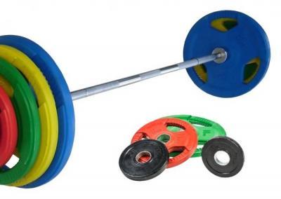 Skivstångsset 85 kg, FitNord Tri Grip Olympic