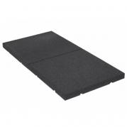 Gummiplatta för tyngdlyftningsområden 30 mm (100 x 50 cm)