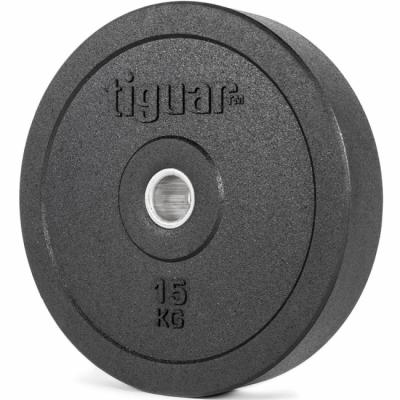 Viktskiva 15 kg, Olympic Bumper, Tiguar