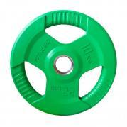 Levypaino 10 kg, FitNord Tri Grip Olympic, vihreä