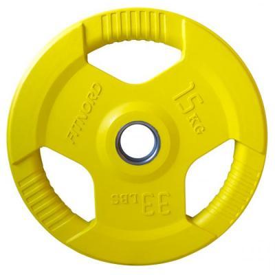 Viktskiva 15 kg, FitNord Tri Grip Olympic
