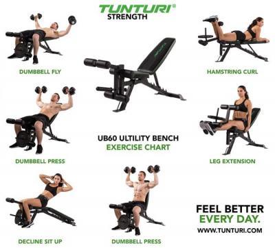 Justerbar multifunktionell träningsbänk Tunturi UB60