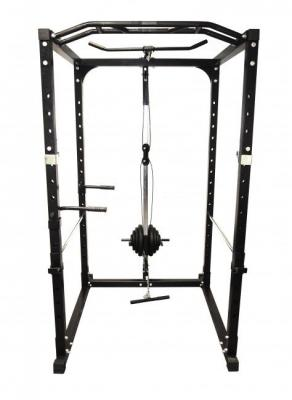 Power Squat Rack med övre och nedre block, FitNord